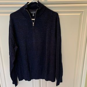 Bonobos Mens 1/4 Zip Black Sweater L Pre owned